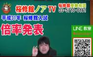 桜修館入試倍率発表!!